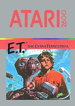 E.T. video game on Atari 2600