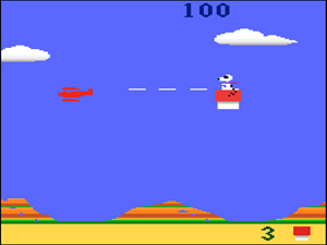 Snoopy and the Red Baron video game screen