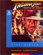 Indiana Jones and the Temple of Doom arcade flyer
