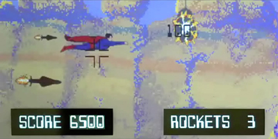 Superman lll game sequence graphics